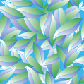 Repeating Leaf Pattern / Art Medium: Adobe Illustrator