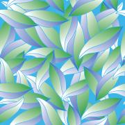 Repeating Leaf Pattern / Art Medium: Adobe Illustrator