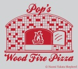 Pop's Pizza - Custom Logo Design / Art Medium: Adobe Illustrator
